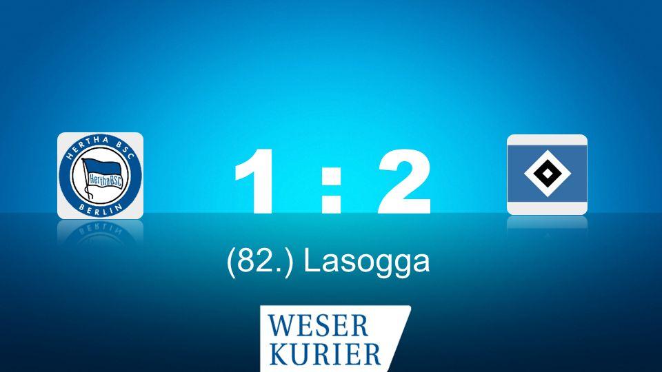 Weserkurier Ergebnisdienst 1 : 2 (82.) Lasogga