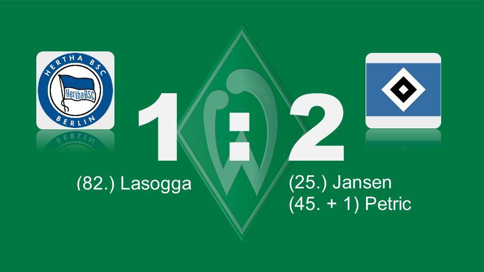 Bochum – KSC 1 : 2 (82.) Lasogga (66.) Lewandowski (25.) Jansen (87.) Robben (71.) Tosic (45.) Kagawa (61.) Bender (45.