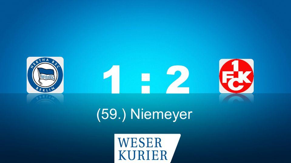 Weserkurier Ergebnisdienst 1 : 2 (59.) Niemeyer