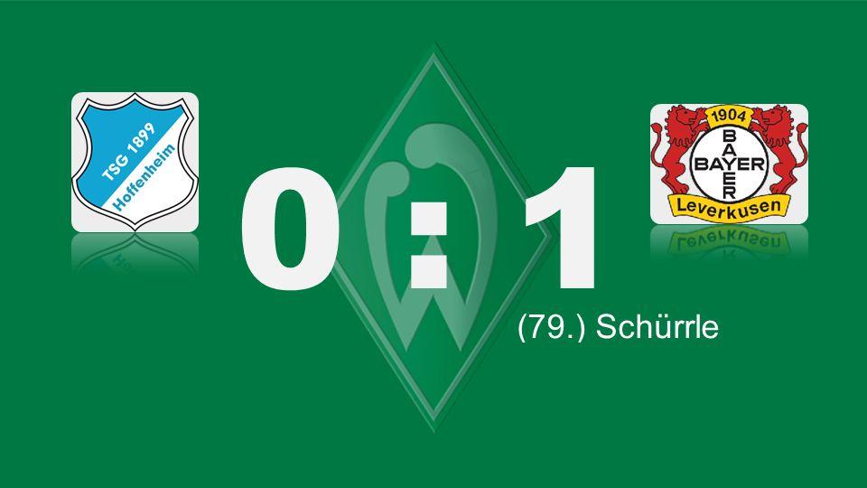 Bochum – KSC 0 : 1 (82.) Lasogga (66.) Lewandowski (79.) Schürrle (87.) Robben (71.) Tosic (45.) Kagawa (61.) Bender (45. + 1) Petric