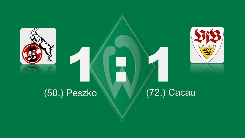 Bochum – KSC 1 : 1 (50.) Peszko (66.) Lewandowski (72.) Cacau (87.) Robben (71.) Tosic (45.) Kagawa (61.) Bender (45. + 1) Petric