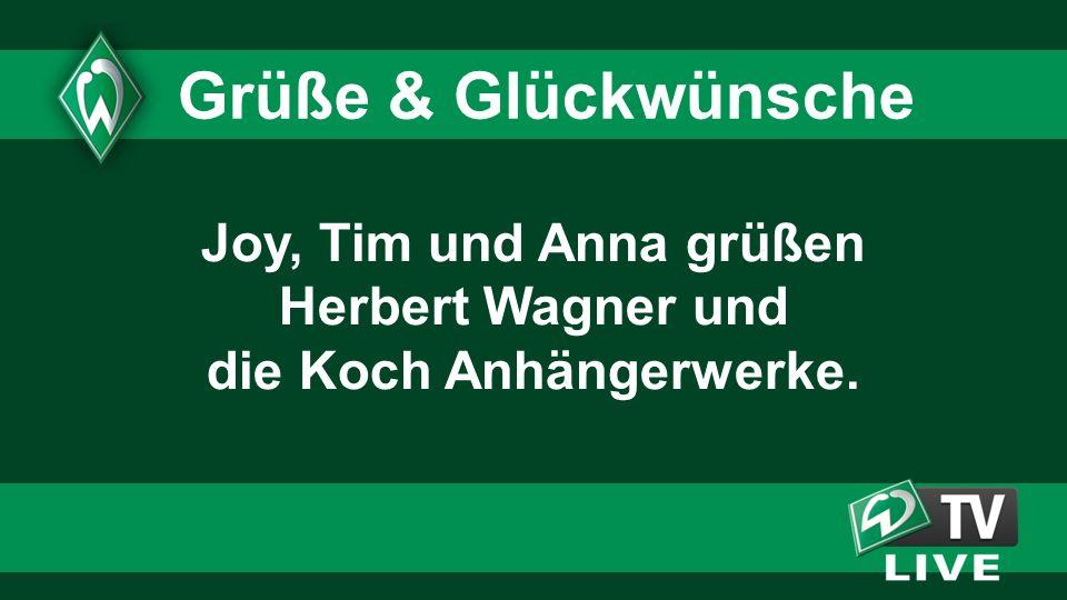Joy, Tim und Anna grüßen Herbert Wagner und die Koch Anhängerwerke. Grüße & Glückwünsche