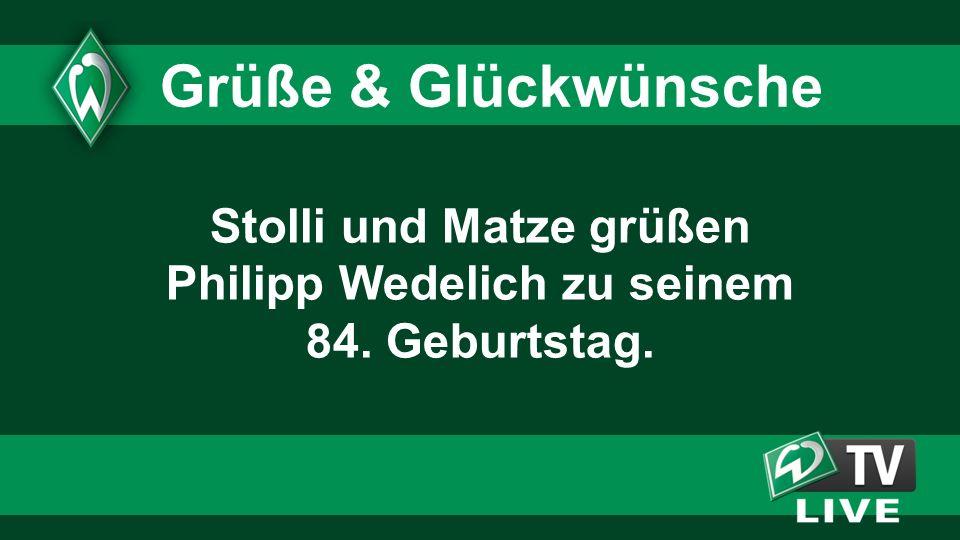 Stolli und Matze grüßen Philipp Wedelich zu seinem 84. Geburtstag. Grüße & Glückwünsche