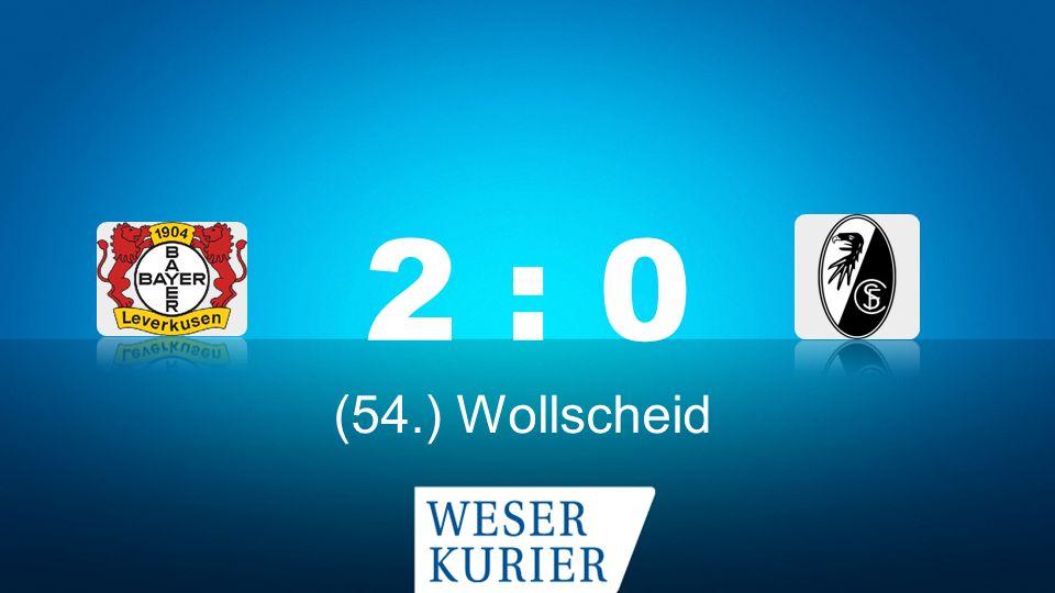 Weserkurier Ergebnisdienst 2 : 0 (54.) Wollscheid