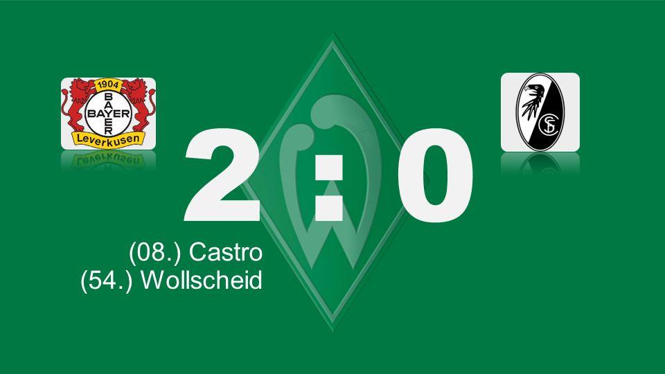 Bochum – KSC 2 : 0 (08.) Castro (66.) Lewandowski (35./ 85.) Müller (54.) Robben (71.) Tosic (54.) Wollscheid (61.) Bender (52./ET) Mc Kenna