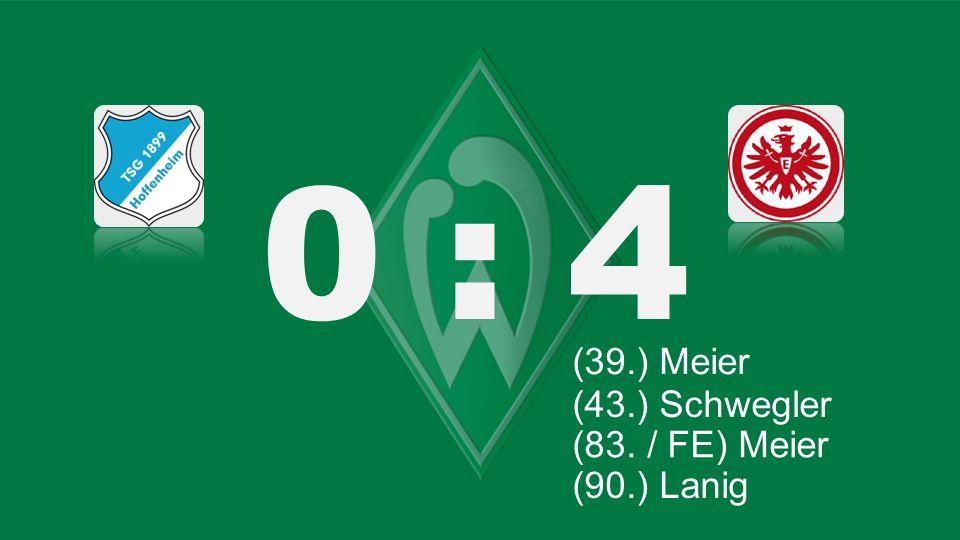 Bochum – KSC 0 : 4 (5./ 39.) Blaszczykowski (39.) Blaszczykowski (39.) Meier (83. / FE) Meier (90.) Lanig (19./ 27) Lewandowski (27.) Lewandowski (43.