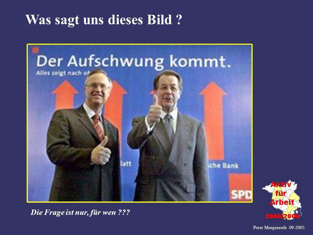 Peter Morgenroth 09-2005 Was sagt uns dieses Bild ? Die Frage ist nur, für wen ???