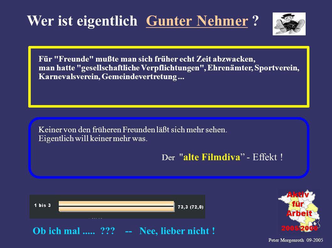 Peter Morgenroth 09-2005 Wer ist eigentlich Gunter Nehmer ? Für