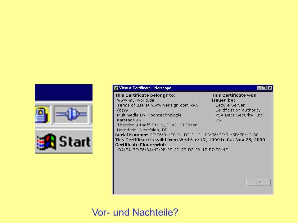 SET Secure Electronic Transaction aus STT (Secure Transaction Technology) von Visa und Microsoft und SEPP (Secure Electronic Payment Protocol) von MasterCard, IBM, Netscape und Cybercash entstand SET (Februar 1996)