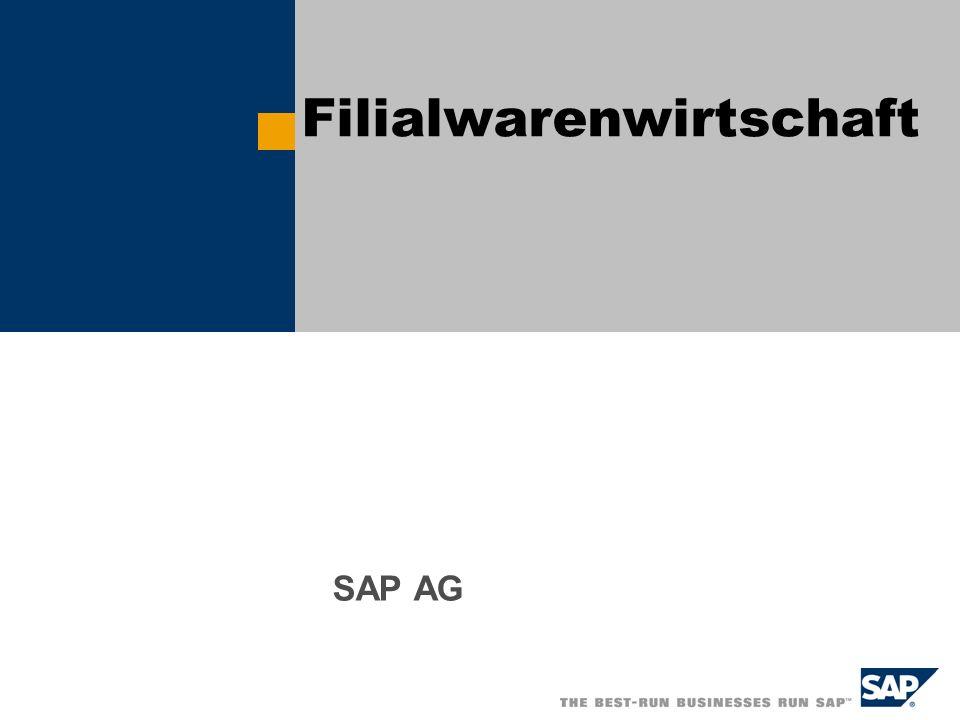 Filialwarenwirtschaft SAP AG