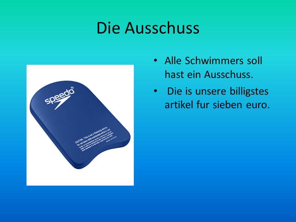 Die Ausschuss Alle Schwimmers soll hast ein Ausschuss.