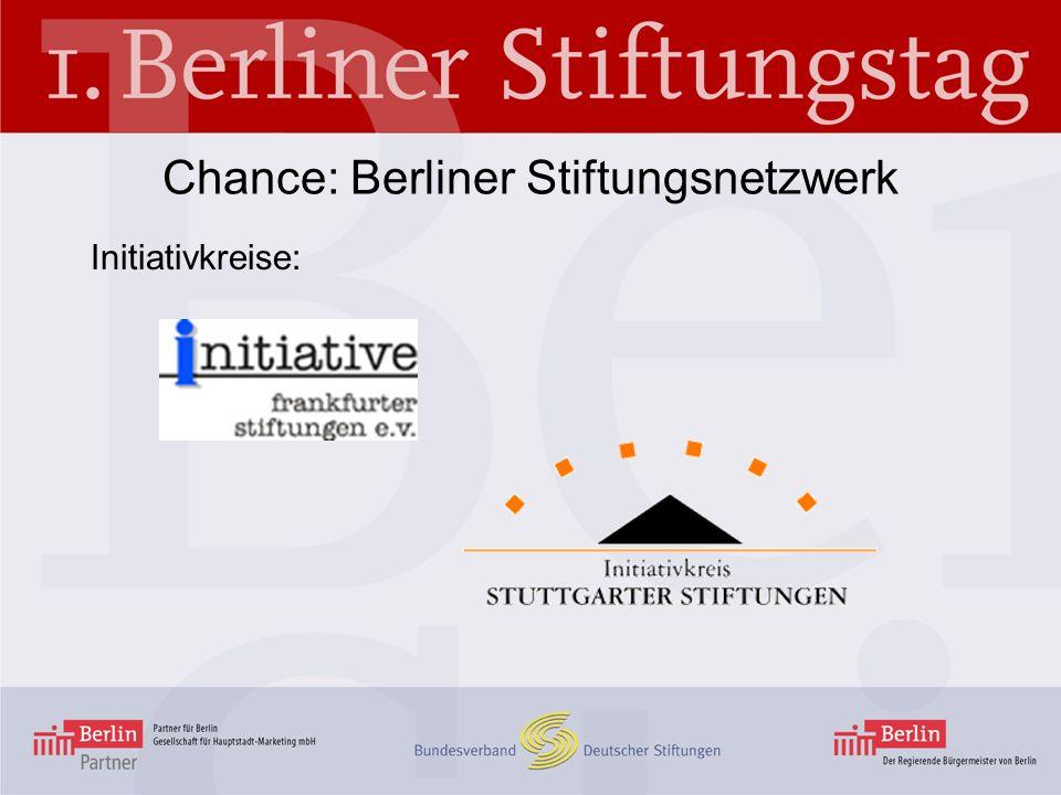 Initiativkreise: Chance: Berliner Stiftungsnetzwerk