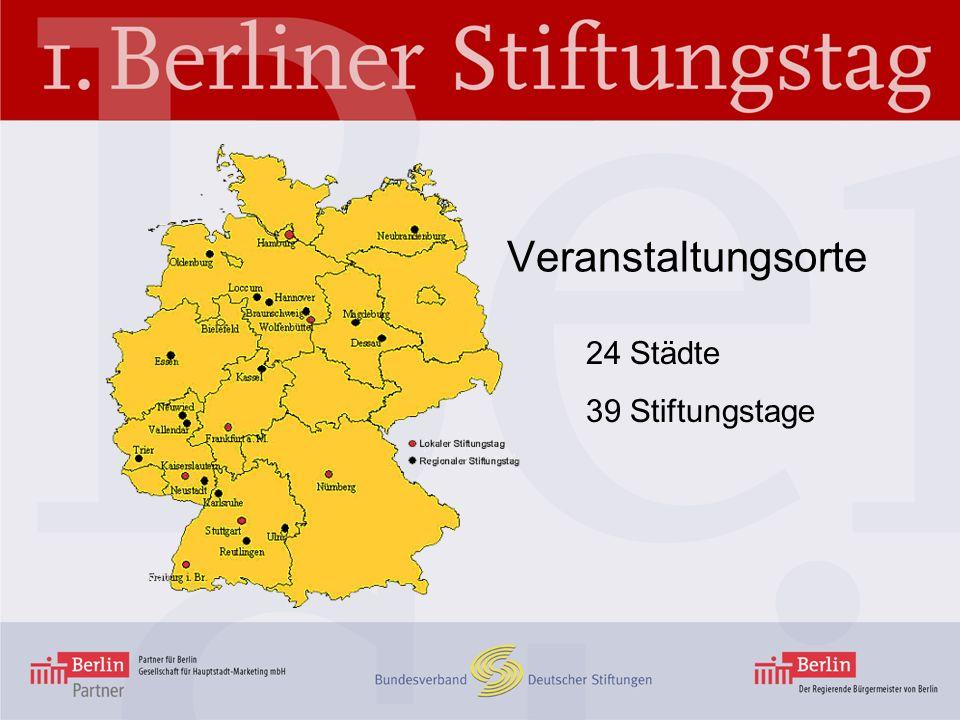 Veranstaltungsorte 24 Städte 39 Stiftungstage