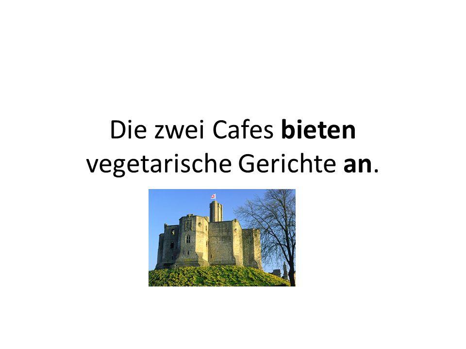 Die zwei Cafes bieten vegetarische Gerichte an.