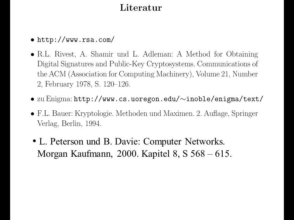Verteilte und Parallele DBMS Teil VI91 L. Peterson und B. Davie: Computer Networks. Morgan Kaufmann, 2000. Kapitel 8, S 568 – 615.