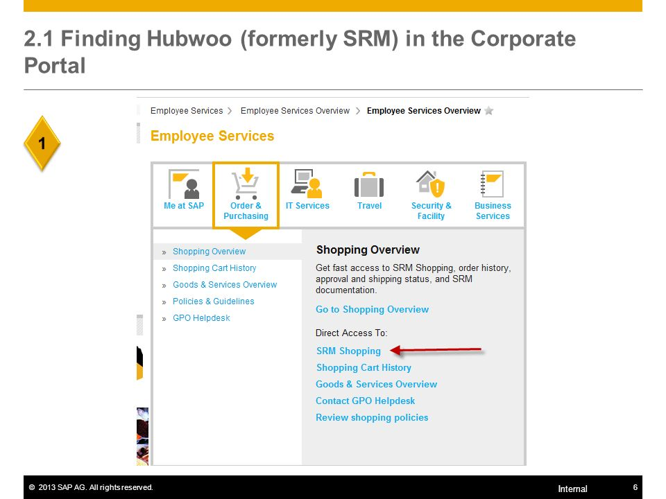 ©2013 SAP AG. All rights reserved.7 Internal 2.2 Finding the Global SAP Merchandise Catalog