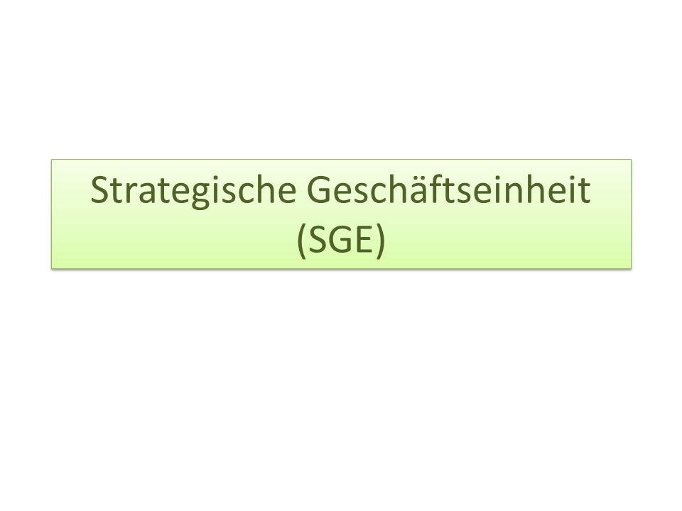 Strategische Geschäftseinheit (SGE)