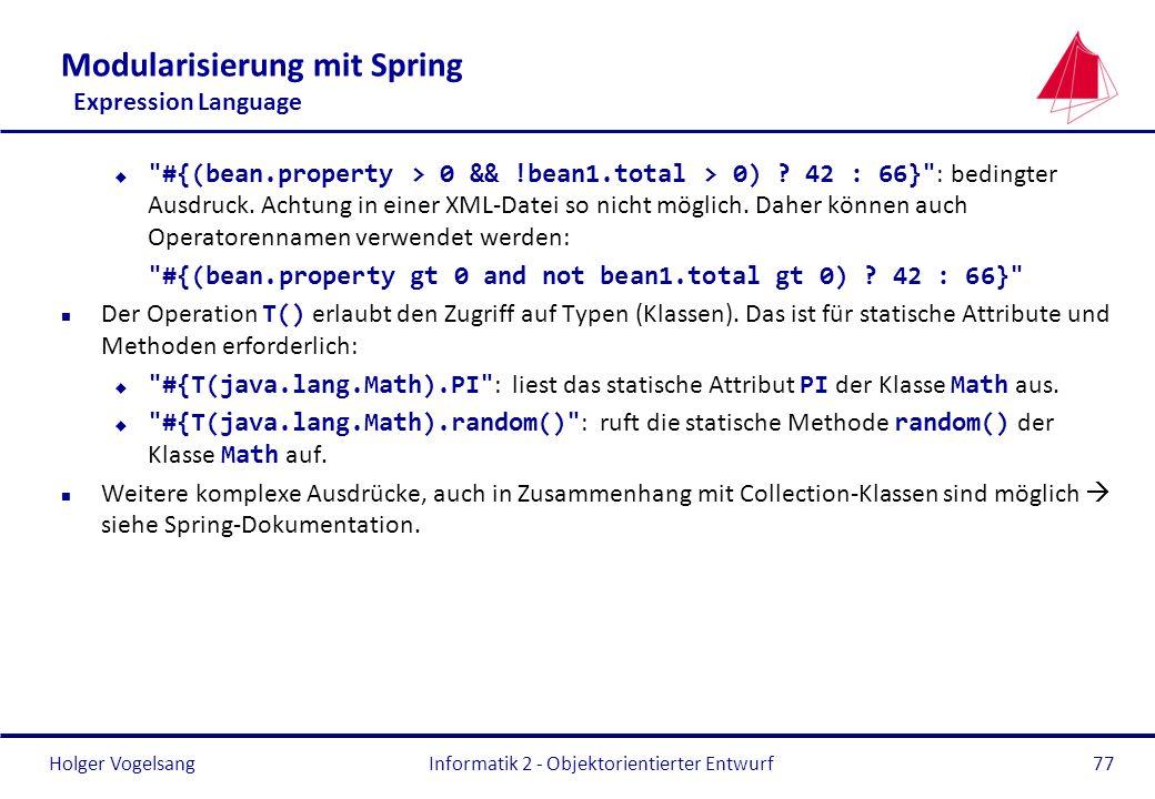Holger Vogelsang Modularisierung mit Spring Expression Language