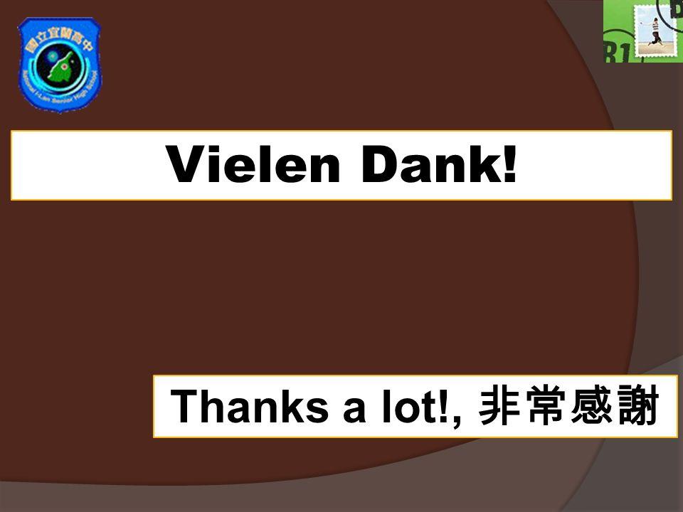 Vielen Dank! Thanks a lot!,