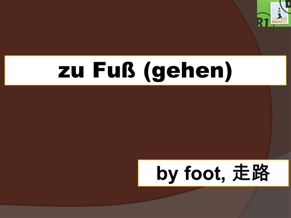 zu Fuß (gehen) by foot,