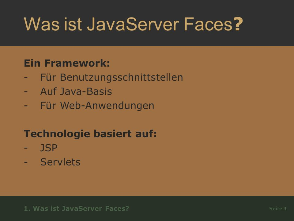 Was ist JavaServer Faces .