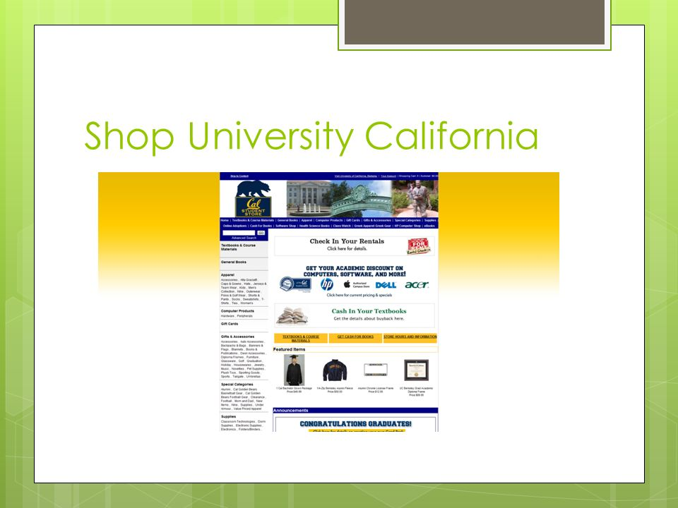 Shop University California