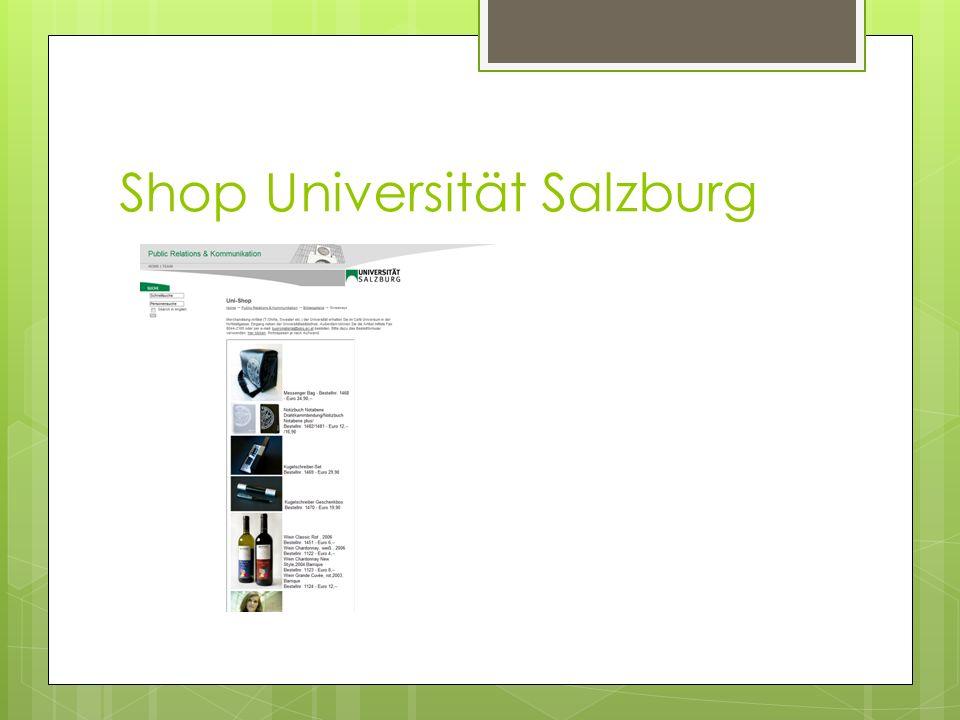 Shop Universität Salzburg
