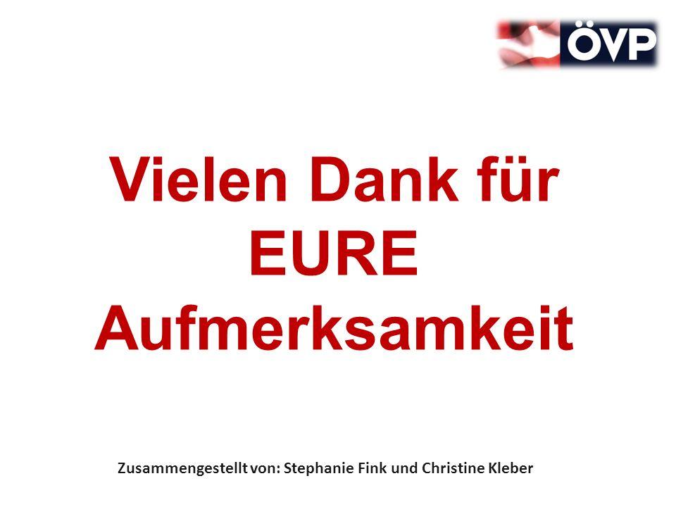 Vielen Dank für EURE Aufmerksamkeit Zusammengestellt von: Stephanie Fink und Christine Kleber