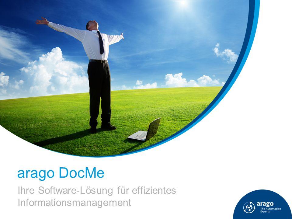 arago DocMe Ihre Software-Lösung für effizientes Informationsmanagement