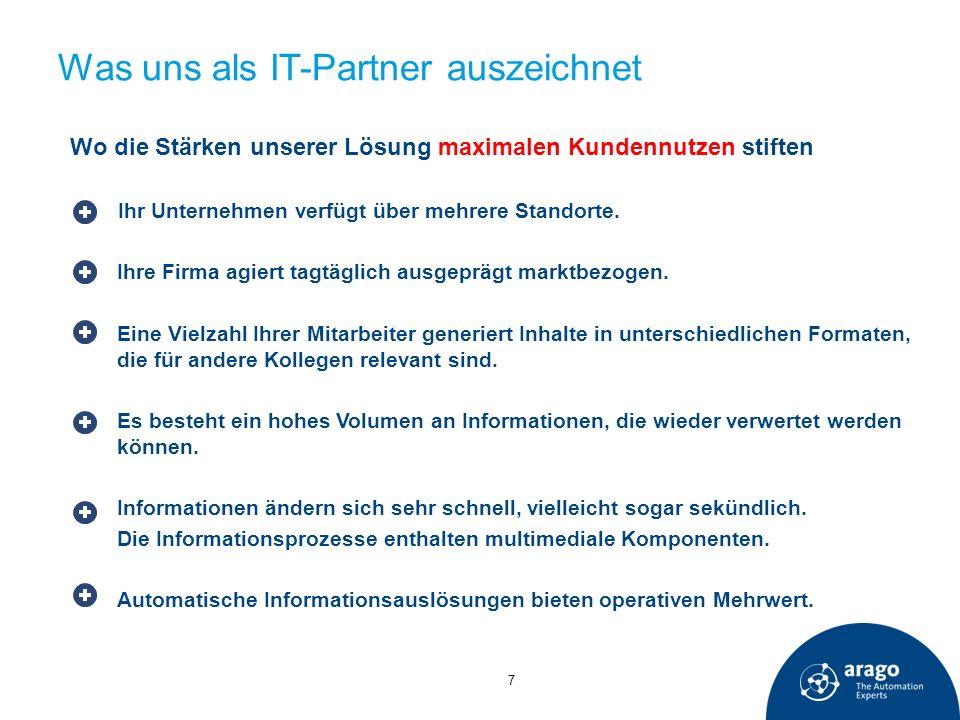 Was uns als IT-Partner auszeichnet Wo die Stärken unserer Lösung maximalen Kundennutzen stiften Ihr Unternehmen verfügt über mehrere Standorte. Ihre F