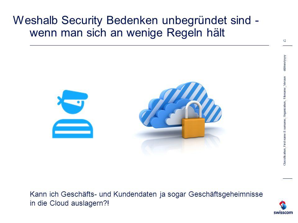 Weshalb Security Bedenken unbegründet sind - wenn man sich an wenige Regeln hält Kann ich Geschäfts- und Kundendaten ja sogar Geschäftsgeheimnisse in