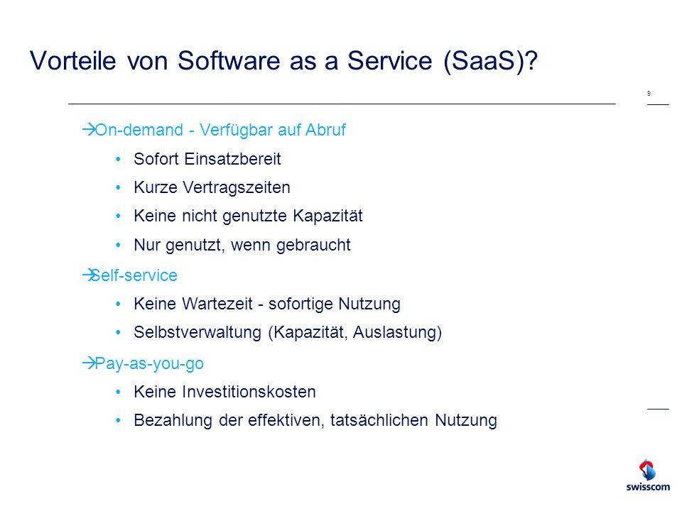 Vorteile von SaaS Applikationen.