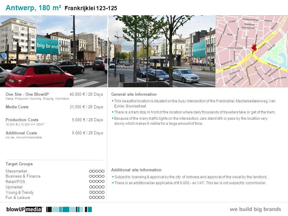 ________________ _____ ______ __________ _____ ____ Textmasterformate durch Klicken bearbeiten Zweite Ebene Dritte Ebene Vierte Ebene Fünfte Ebene Antwerp, 140 m² Groenplaats