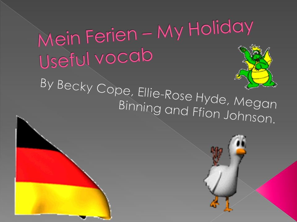 This is a powerpoint for useful German vocab about a holiday.