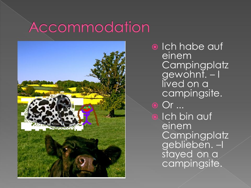 GermanEnglish Ich war in...I was in...