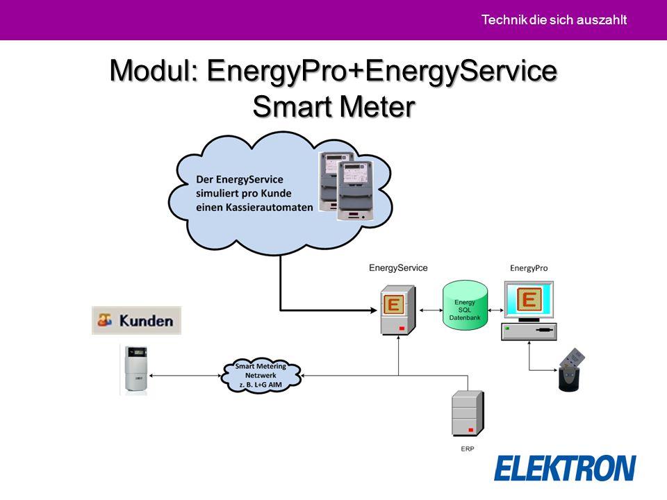 Technik die sich auszahlt Modul: EnergyPro+EnergyService Smart Meter