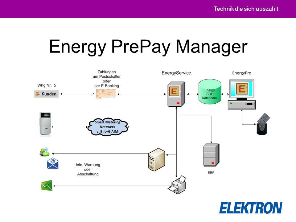 Technik die sich auszahlt Energy PrePay Manager