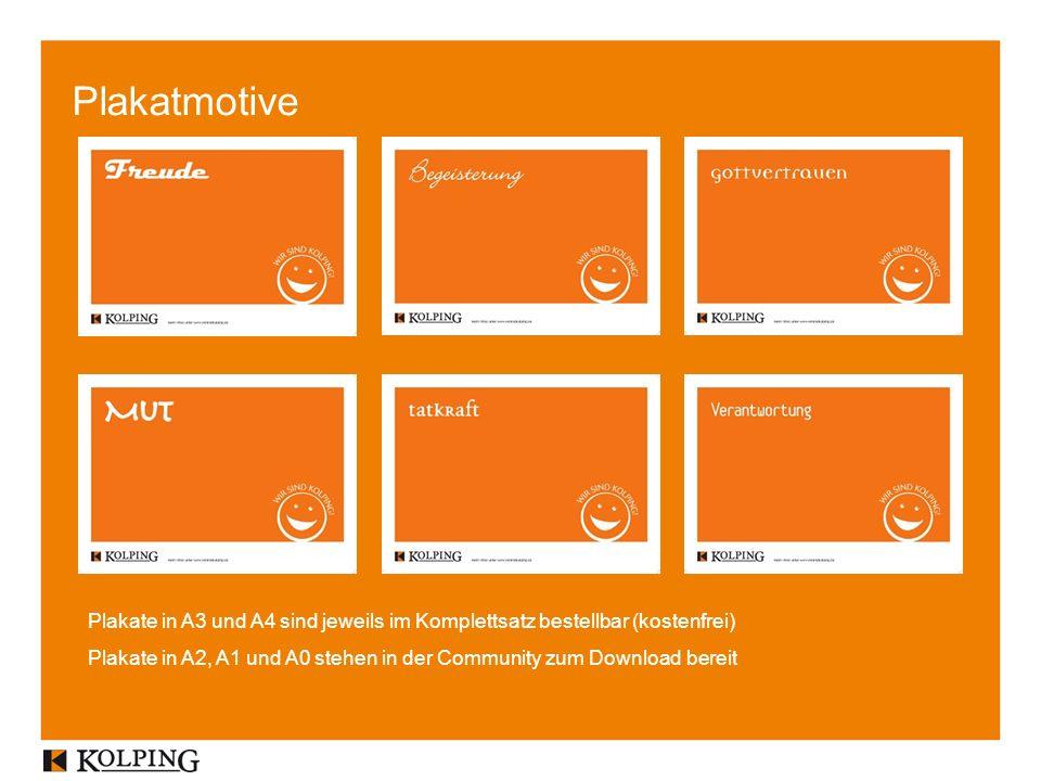Plakatmotive Plakate in A3 und A4 sind jeweils im Komplettsatz bestellbar (kostenfrei) Plakate in A2, A1 und A0 stehen in der Community zum Download bereit