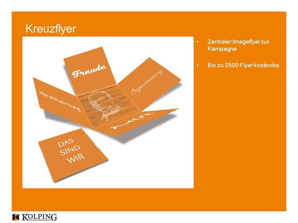 Zentraler Imageflyer zur Kampagne Bis zu 2500 Flyer kostenlos Kreuzflyer