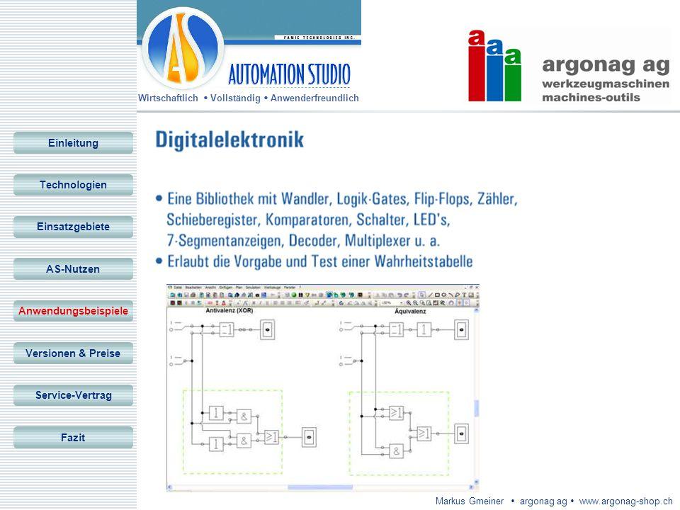 Wirtschaftlich Vollständig Anwenderfreundlich Markus Gmeiner argonag ag www.argonag-shop.ch Einleitung Technologien Einsatzgebiete AS-Nutzen Anwendung