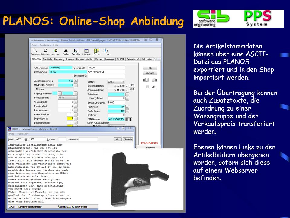 PLANOS: Online-Shop Anbindung Mit wenigen Mausklicks kann auf eine komplett andere Designvorlage gewechselt werden Eine Vielzahl solcher Vorlagen ist verfügbar