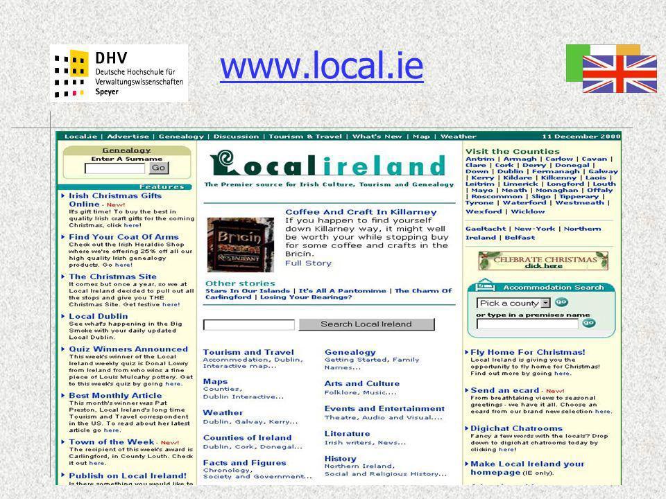 13.12.0017One Stop Government und Portale für die öffentliche Verwaltung -Team 2 www.local.ie