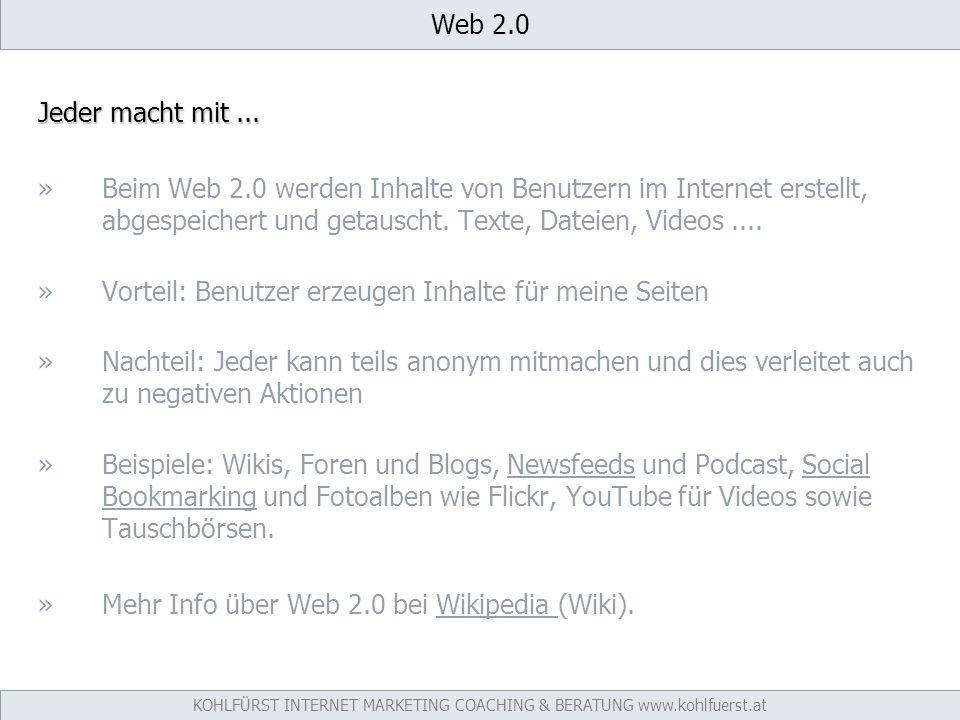 Web 2.0 Jeder macht mit...