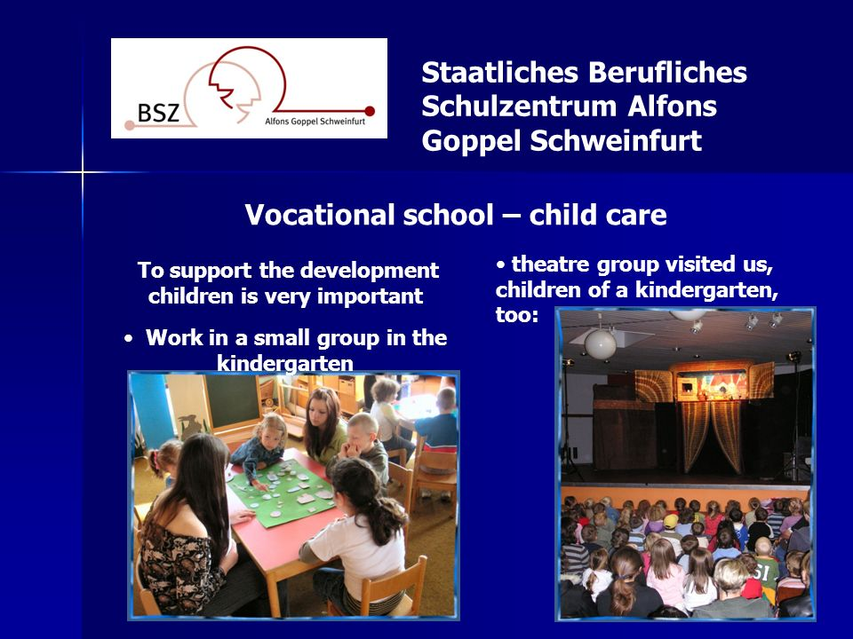Staatliches Berufliches Schulzentrum Alfons Goppel Schweinfurt Vocational school - social assistants Excercise for the back Work in ambulatory and stationary care