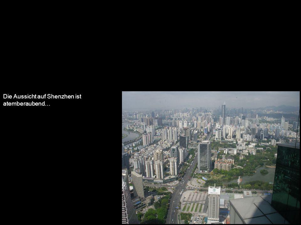 Die Aussicht auf Shenzhen ist atemberaubend…