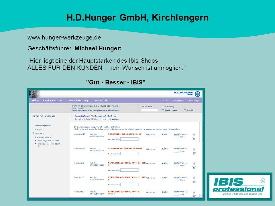 H.D.Hunger GmbH, Kirchlengern www.hunger-werkzeuge.de Geschäftsführer Michael Hunger: