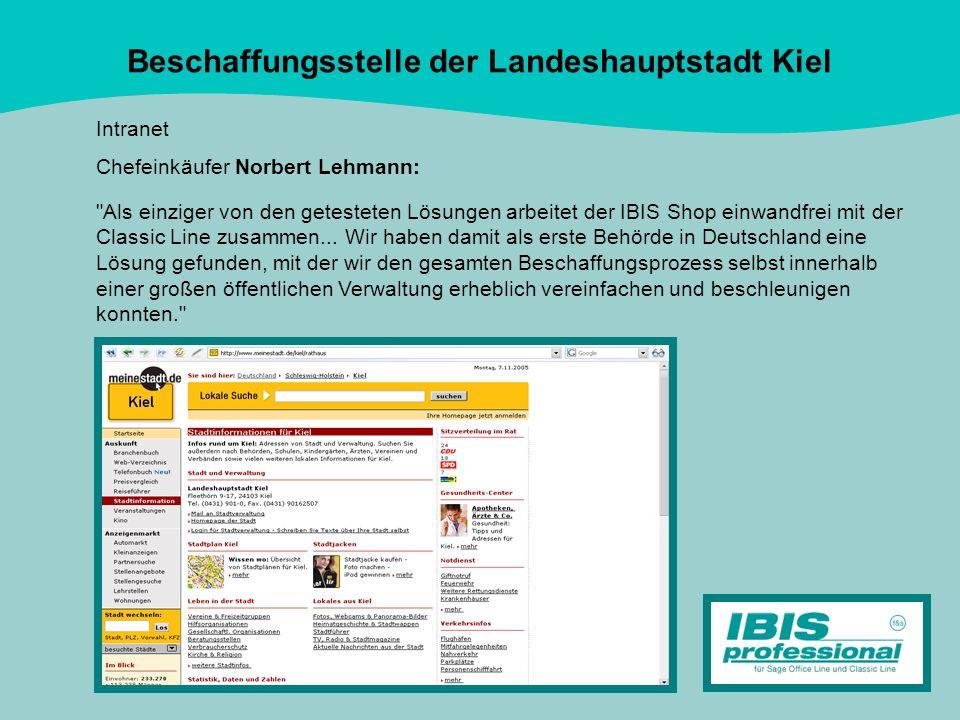 Beschaffungsstelle der Landeshauptstadt Kiel Intranet Chefeinkäufer Norbert Lehmann: