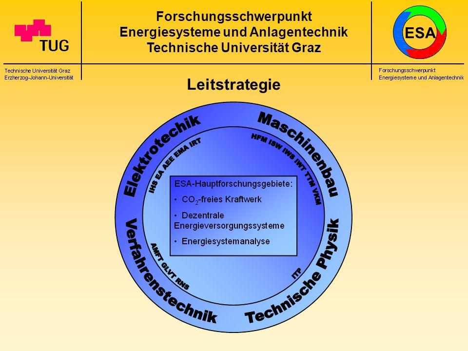 Forschungsschwerpunkt Energiesysteme und Anlagentechnik Technische Universität Graz Leitstrategie ESA