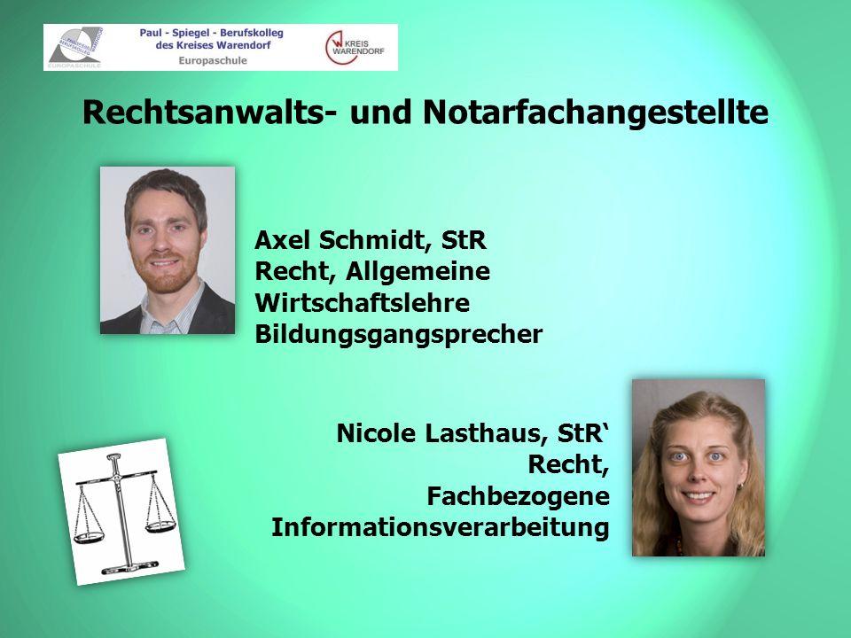 Rechtsanwalts- und Notarfachangestellte Daniel Hernaiz-Kleine, Rechtsanwalt Recht Oliver Ruhe, StR Rechnungswesen
