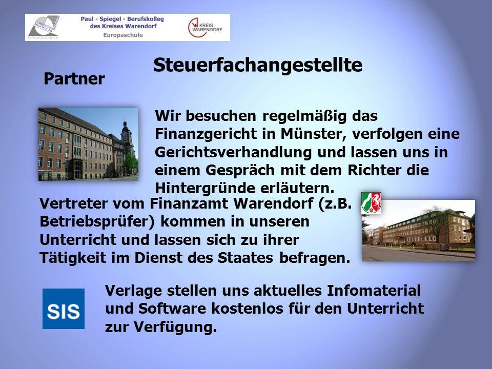 Steuerfachangestellte Partner Wir besuchen regelmäßig das Finanzgericht in Münster, verfolgen eine Gerichtsverhandlung und lassen uns in einem Gespräc